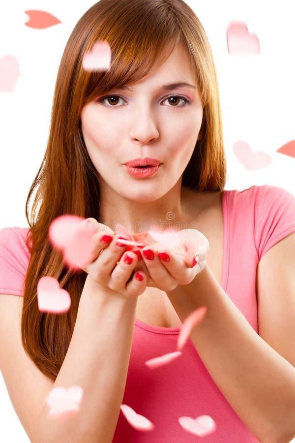 Femme faisant sauter le baiser images libres de droits