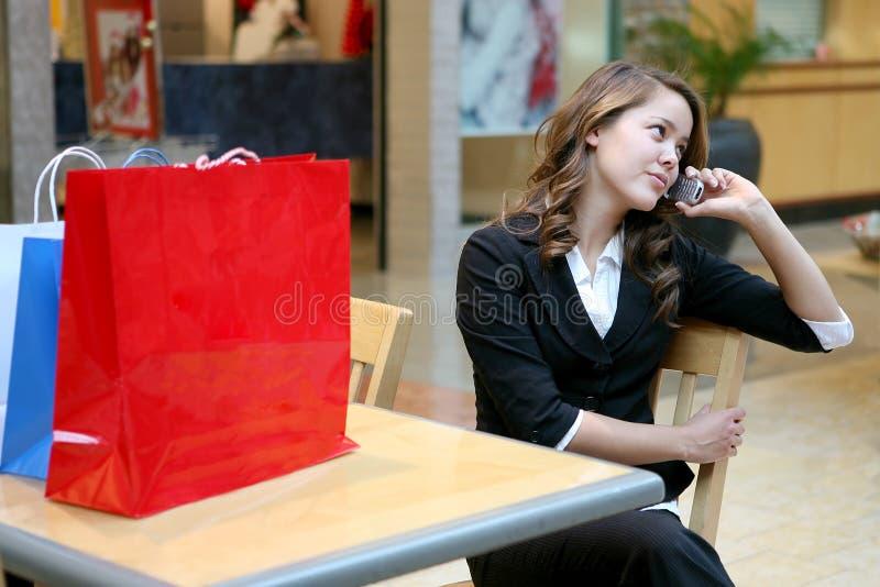 Femme faisant une pause images libres de droits