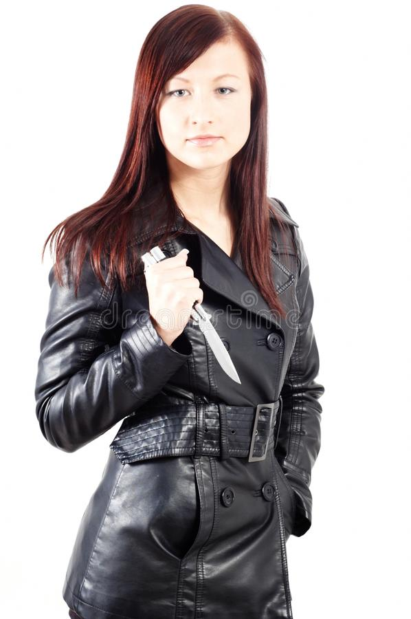 Download Femme fatale stock photo. Image of defence, blade, caucasian - 12579164