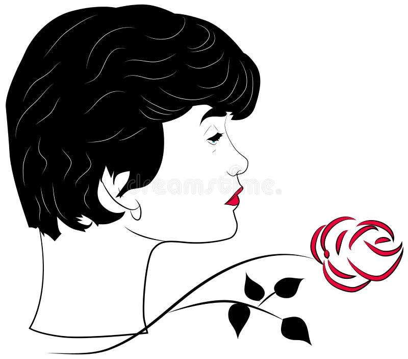 Femme fatale stock illustrationer