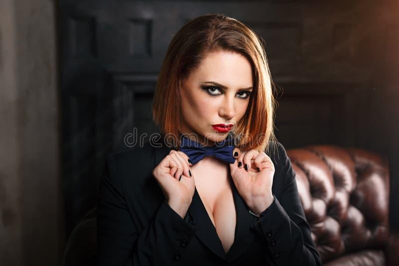 Femme fatale royalty-vrije stock fotografie