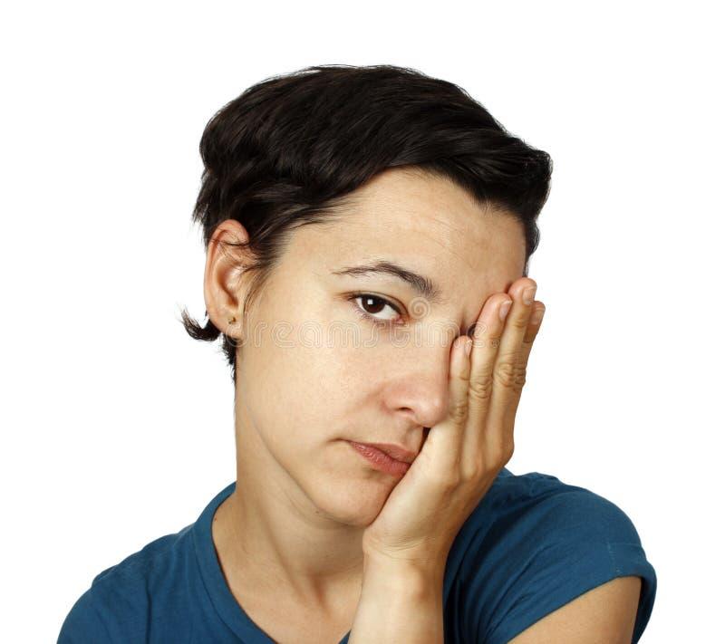 Femme fatigué photo libre de droits