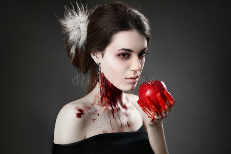 Download Femme foncée photo stock. Image du effectuez, diable - 45354276