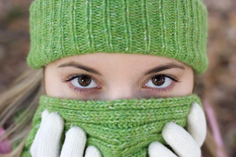 Femme froid photos stock