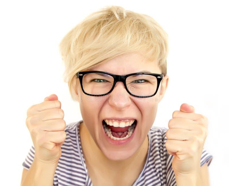 Femme furieuse photos libres de droits
