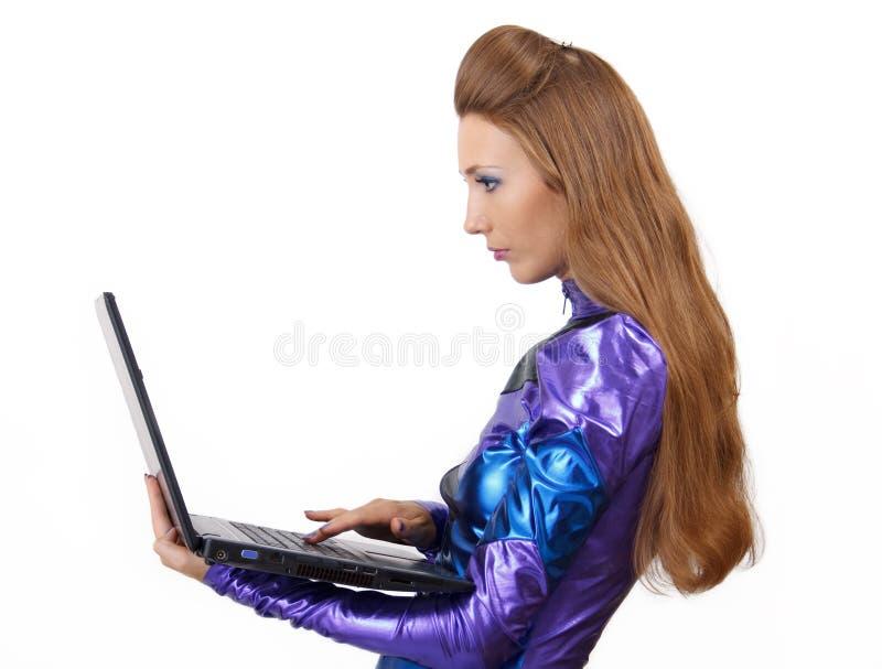 Femme futuriste. image stock