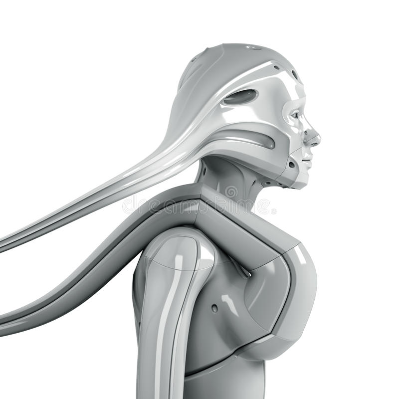 Femme futuriste illustration stock