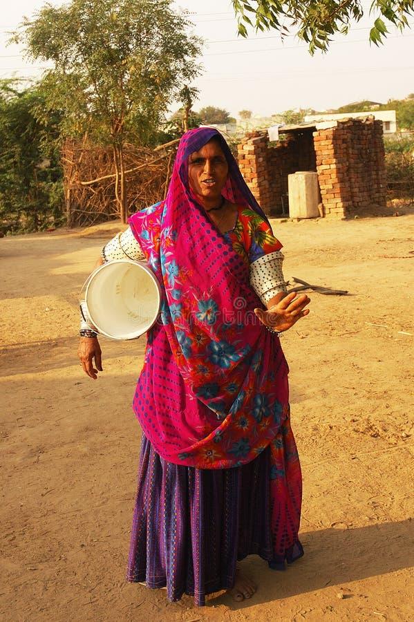 Femme gitan au Goudjerate photo libre de droits