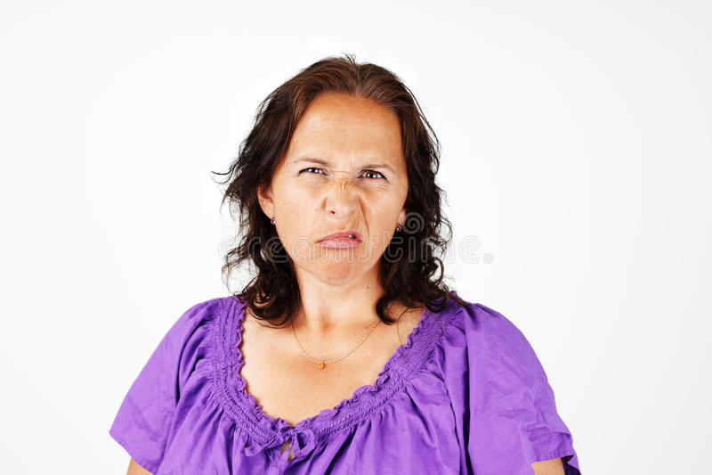 Femme grincheuse de Moyen Âge photos stock
