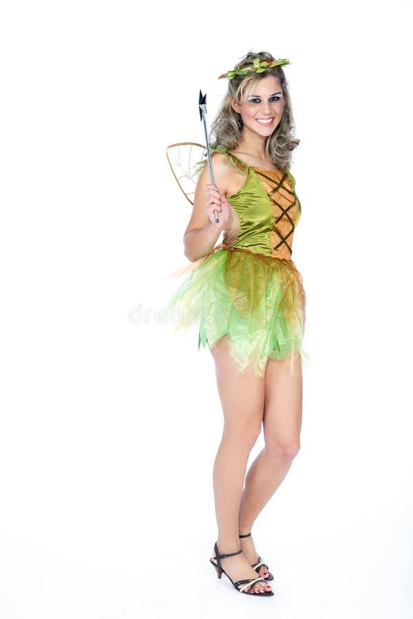 Femme habillée comme fée photographie stock