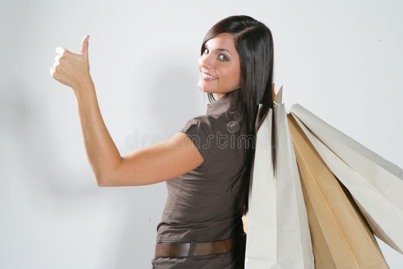 Femme heureuse d'achats image libre de droits