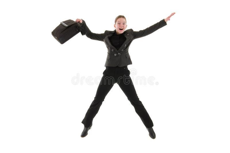 Femme heureuse d'affaires photo stock