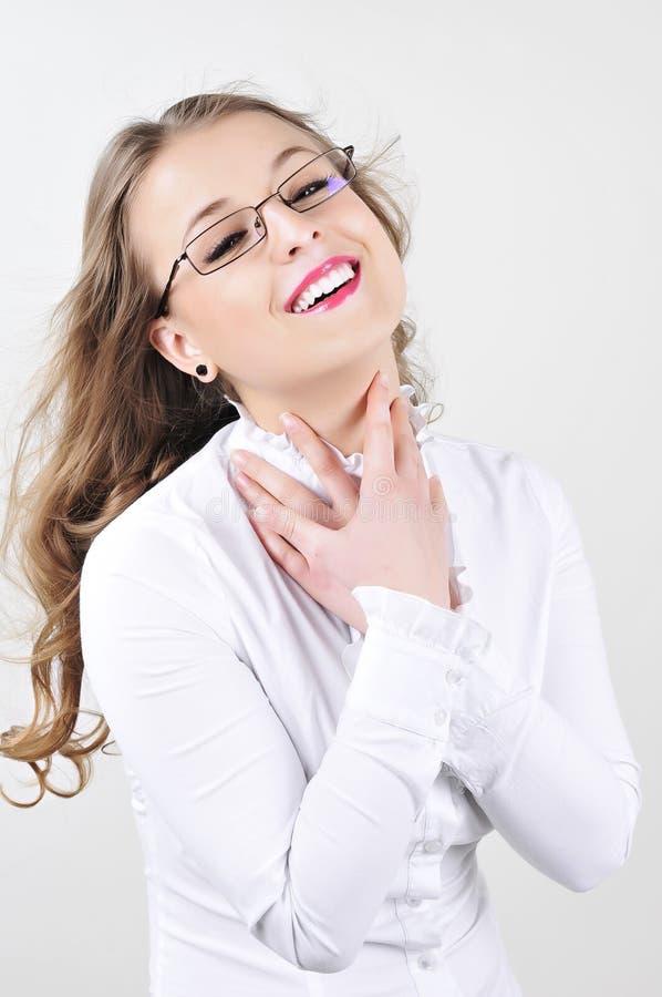 Femme heureuse d'affaires photos stock