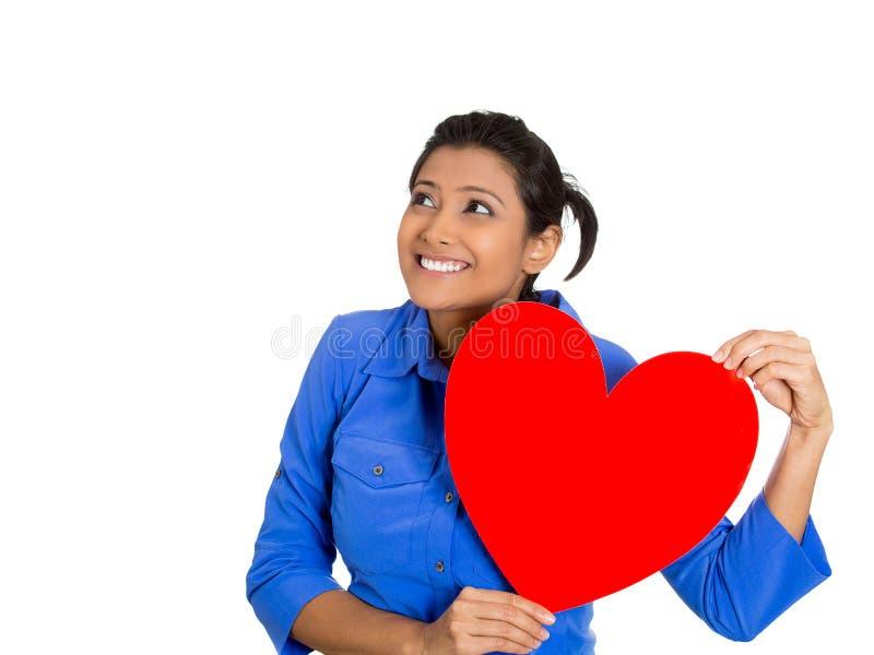 Femme heureuse dans l'amour photographie stock libre de droits