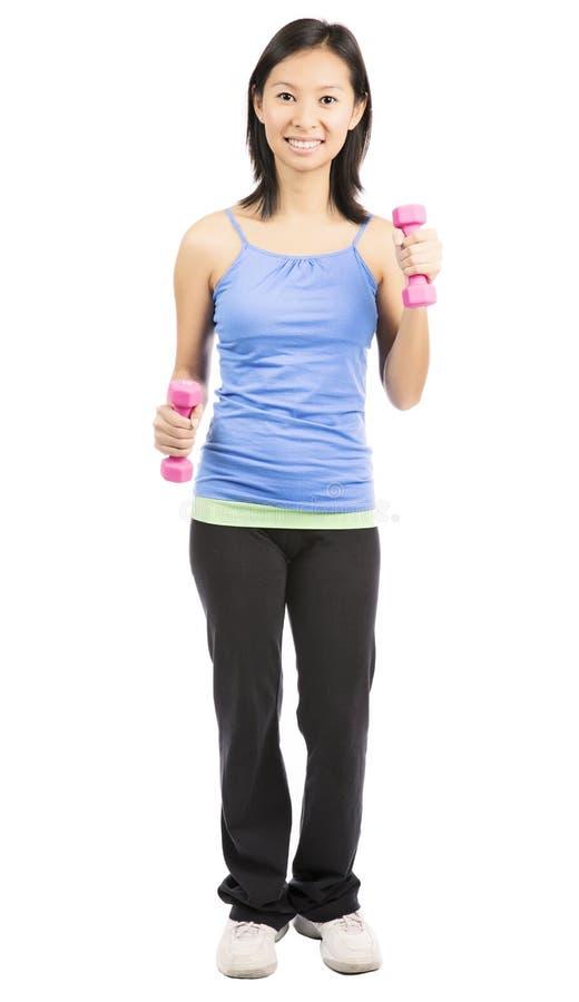 Femme heureuse de forme physique photographie stock libre de droits