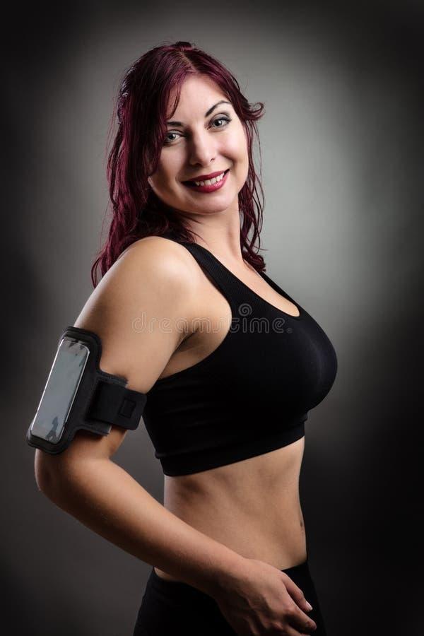 femme heureuse de forme physique photographie stock