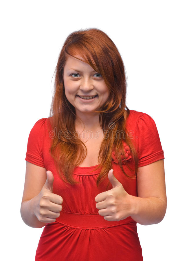 Femme heureuse de sourire photo stock
