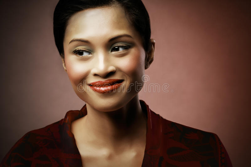 Femme heureux image stock