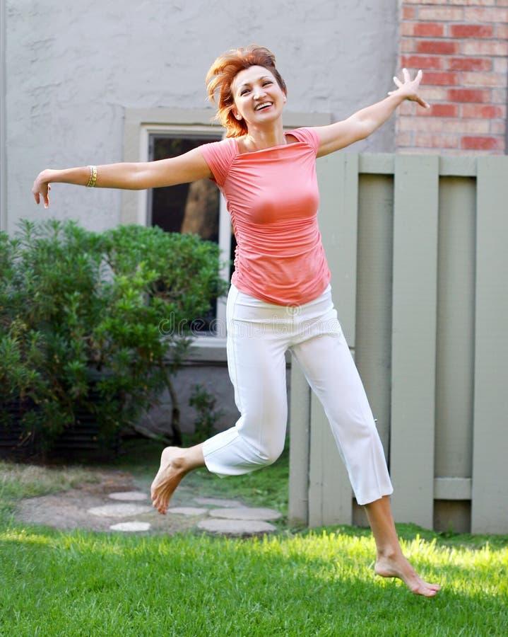 Femme heureux images libres de droits