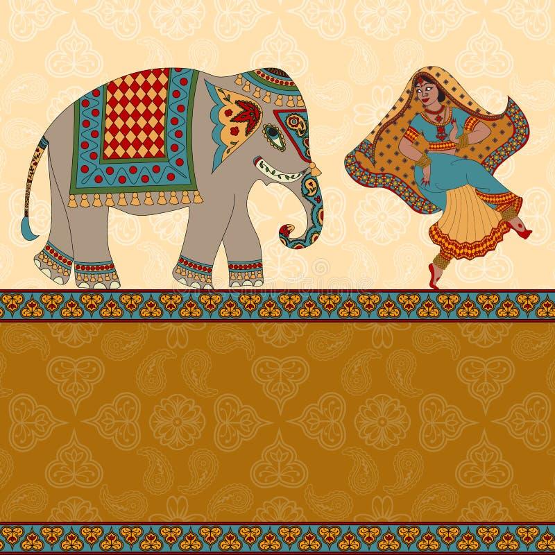 Femme indienne illustration stock