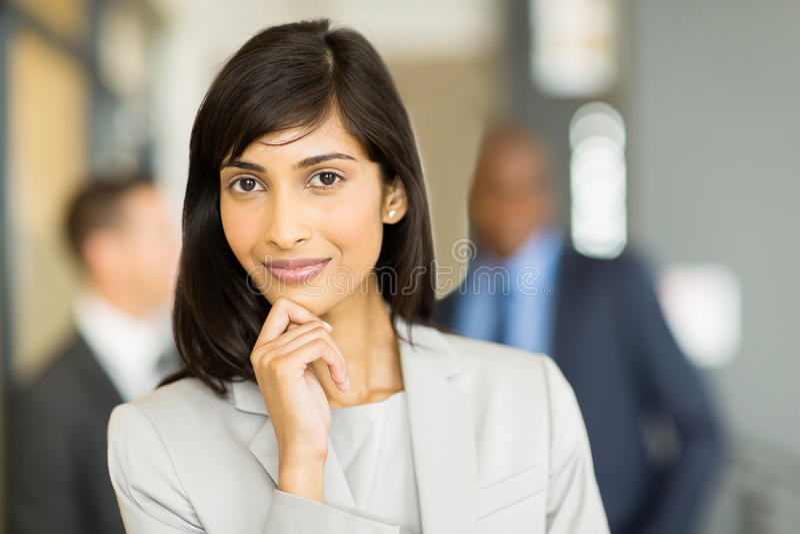 Femme indienne d'affaires images stock