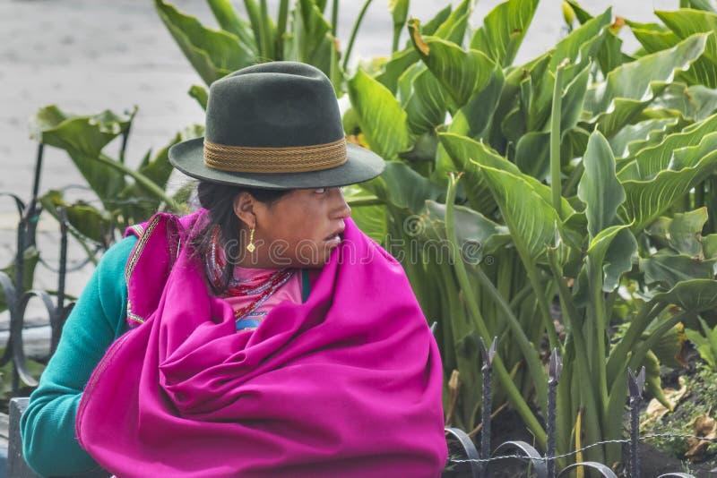 Femme indigène d'ecuadorian indigène image stock