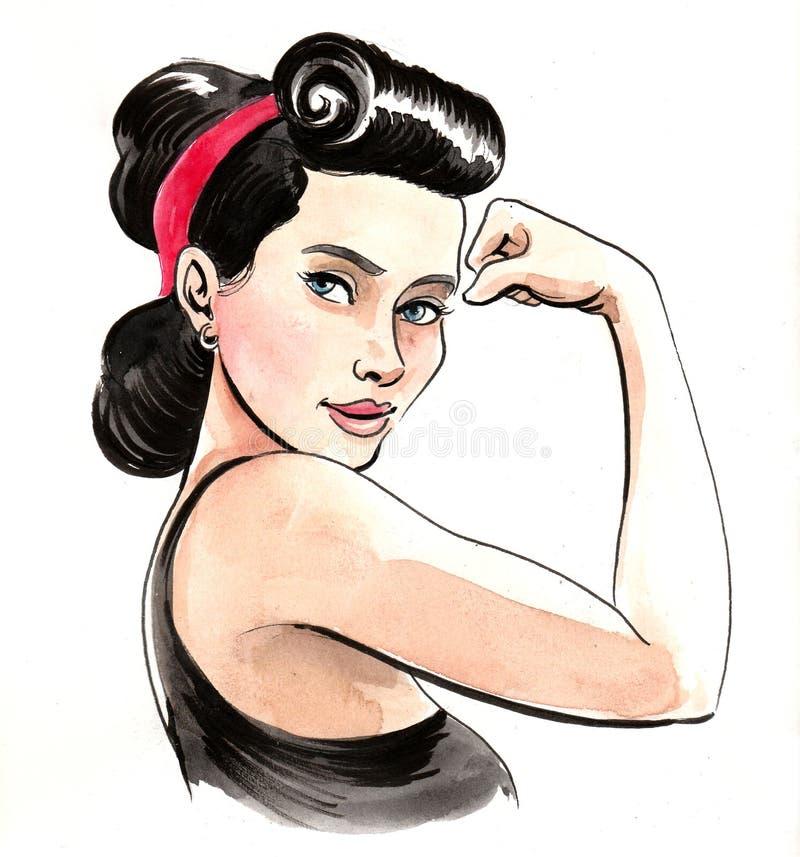 Femme intense illustration libre de droits