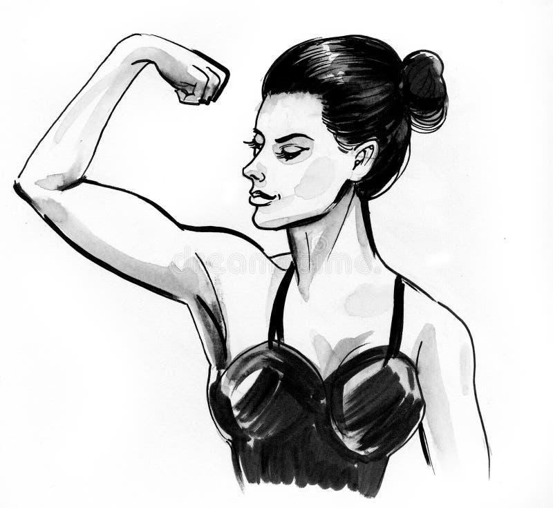 Femme intense illustration de vecteur