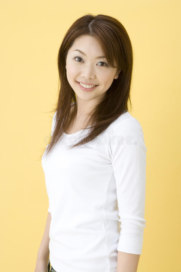 Femme japonaise de sourire photo stock