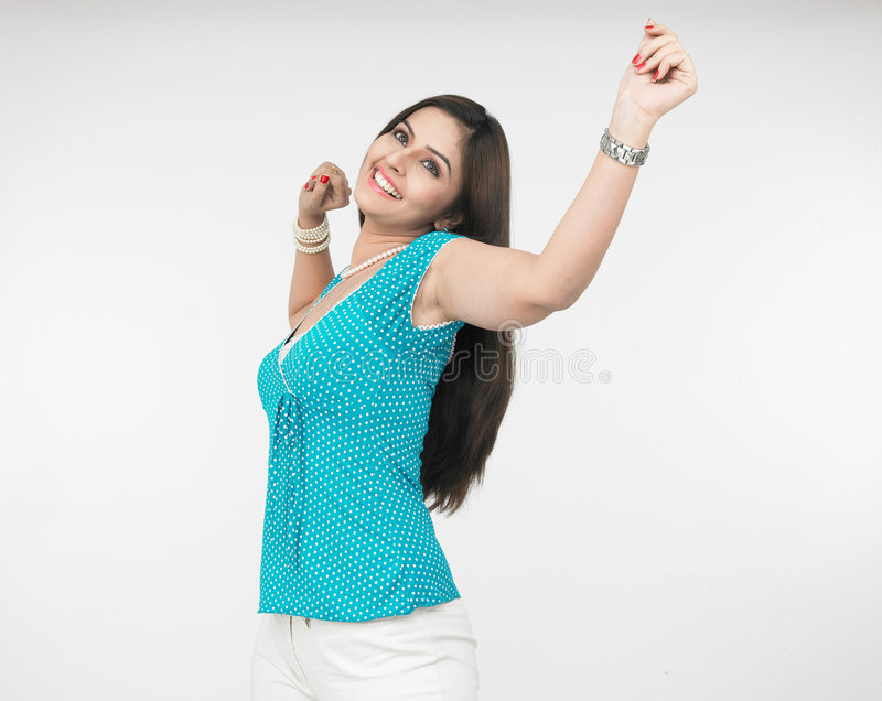 femme jhiving indienne image stock