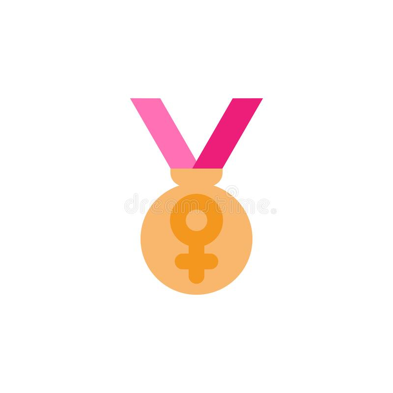 """Femme \ """"jour de s, icône d'appréciation Élément de femme de couleur \ """"d'icône de jour de s Icône de la meilleure qualité de con illustration stock"""