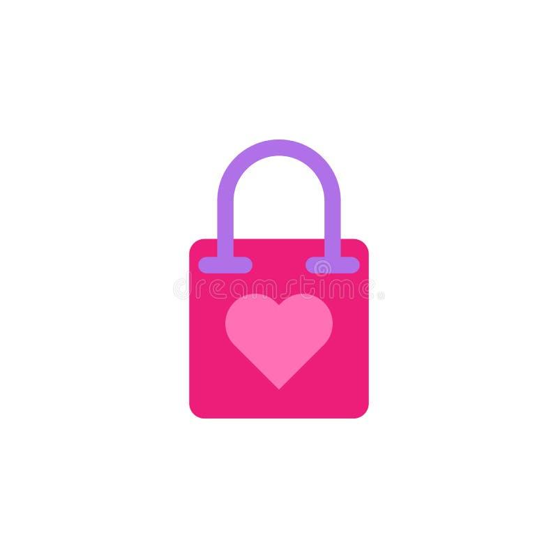 """Femme \ """"jour de s, icône de sac à provisions Élément de femme de couleur \ """"d'icône de jour de s Icône de la meilleure qualité d illustration de vecteur"""