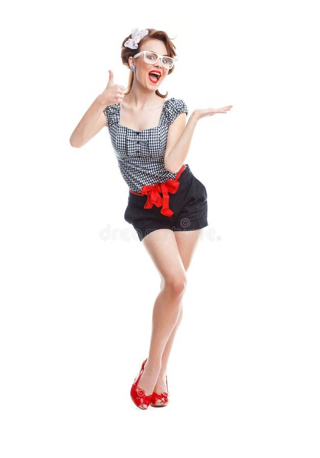 Femme joyeuse photo libre de droits