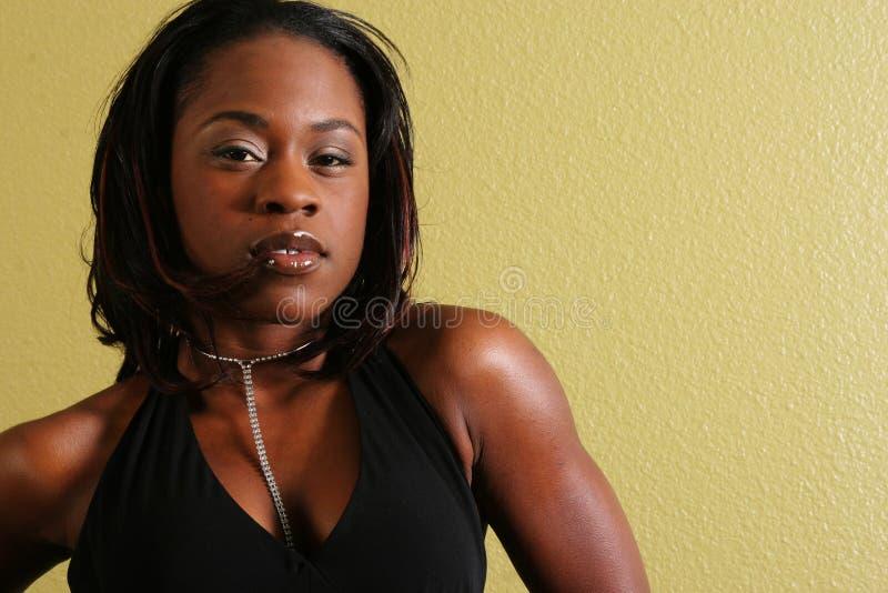 Femme Lo sexy d'Afro-américain photo libre de droits
