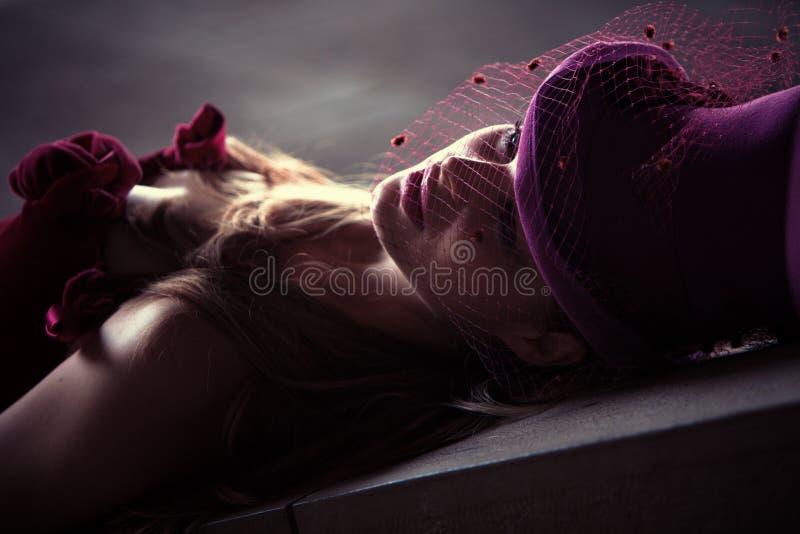 Femme Mélancolique Images stock