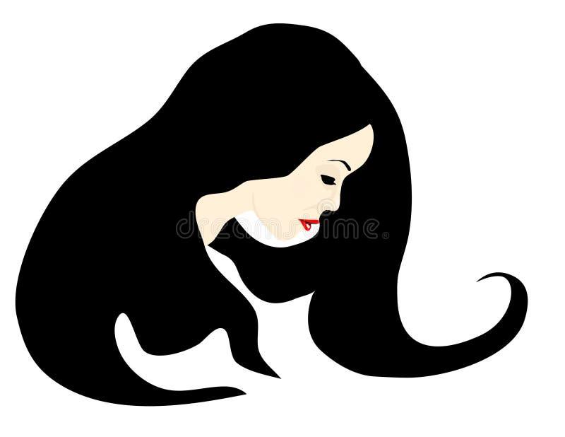 Femme mélancolique illustration stock