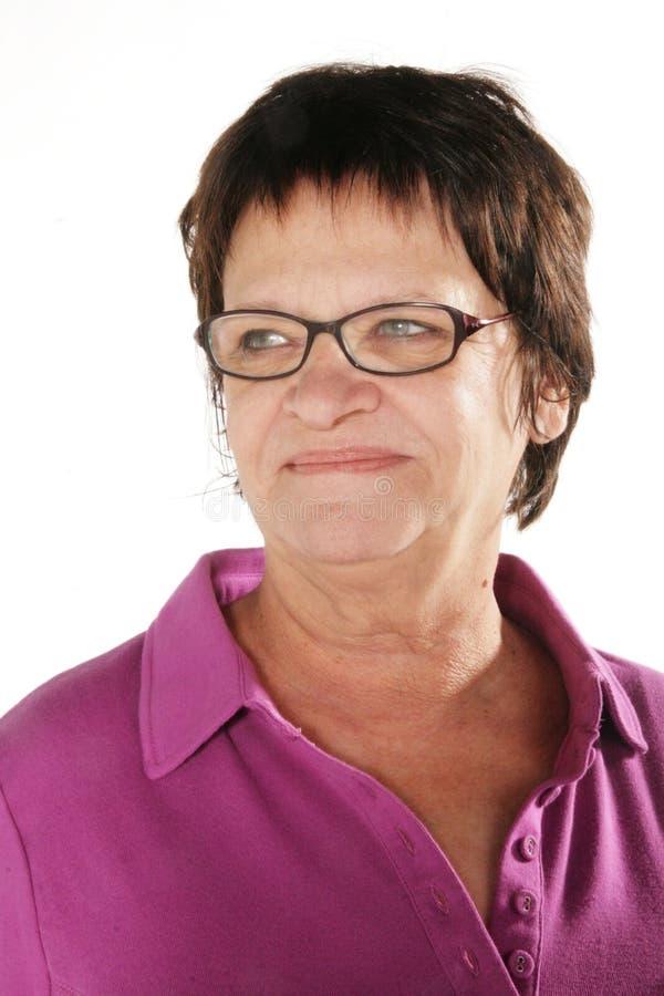 Femme mûre de sourire images libres de droits