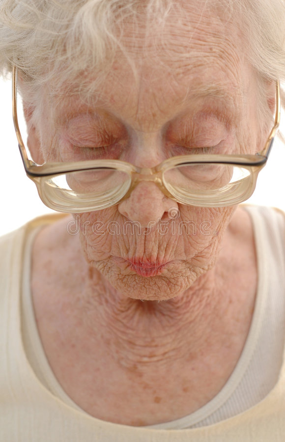 Femme mûre pointue photo libre de droits