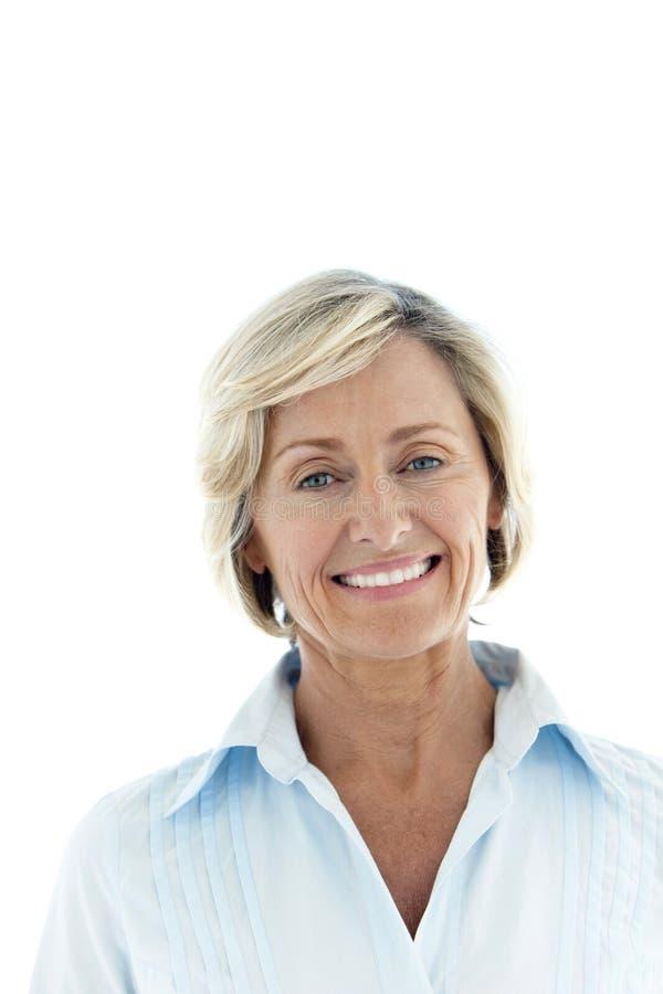Femme mûre de sourire image libre de droits