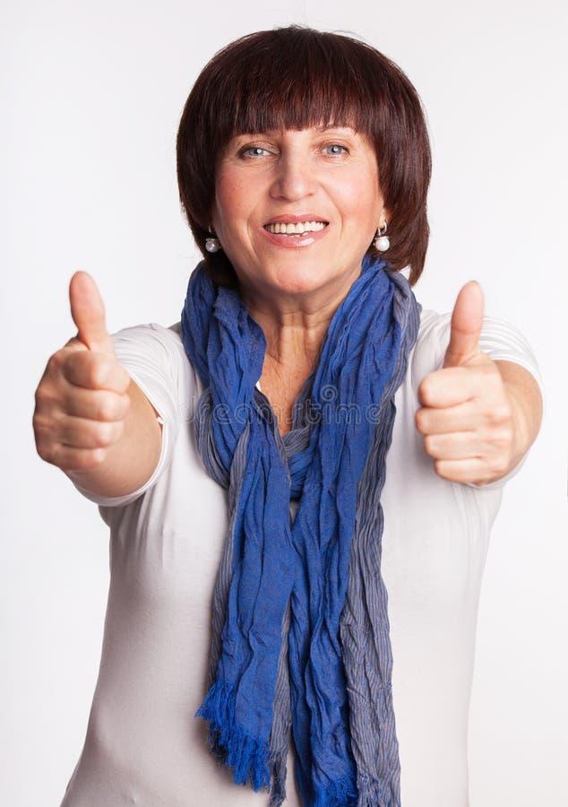 Femme mûre heureuse images libres de droits