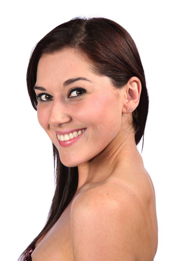 Femme magnifique de Brunette photos stock