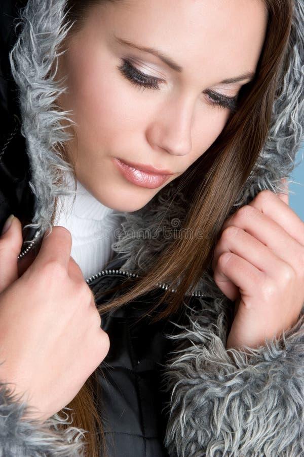 femme magnifique de l'hiver images libres de droits