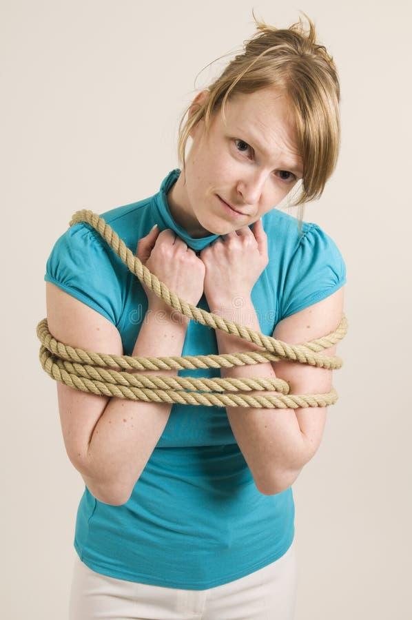 Femme Manacled images libres de droits