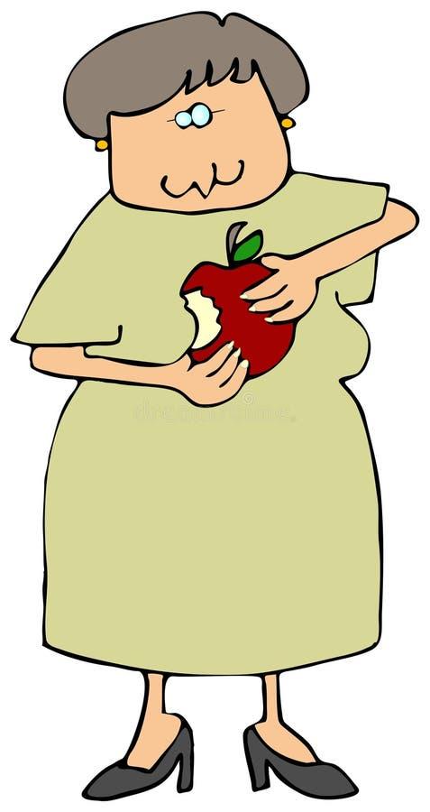 Femme mangeant un Apple illustration libre de droits
