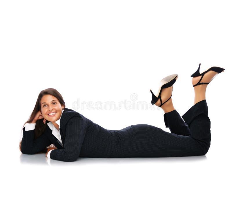 Femme menteuse d'affaires photos libres de droits