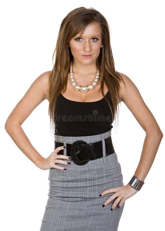 Femme mignon dans le vêtement de bureau photographie stock