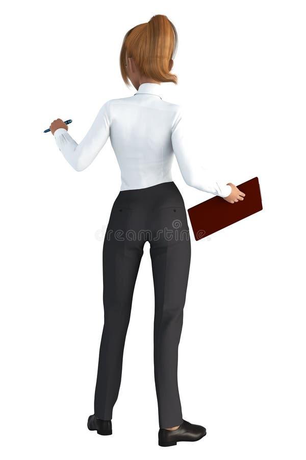 Femme mignonne d'affaires de roux faisant face à partir de l'appareil-photo illustration stock