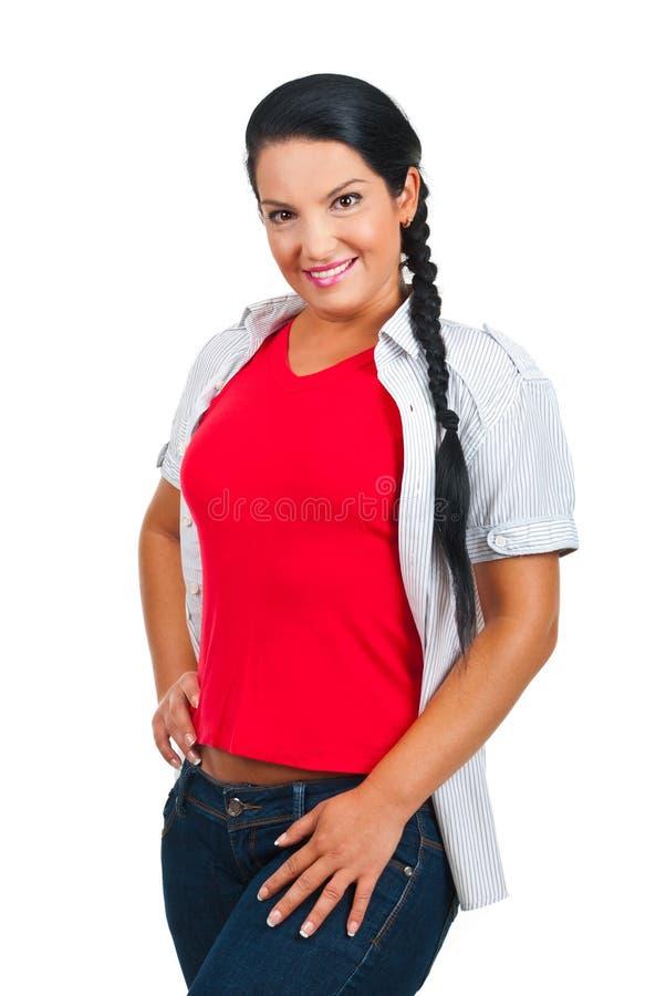 Femme modèle occasionnelle photographie stock