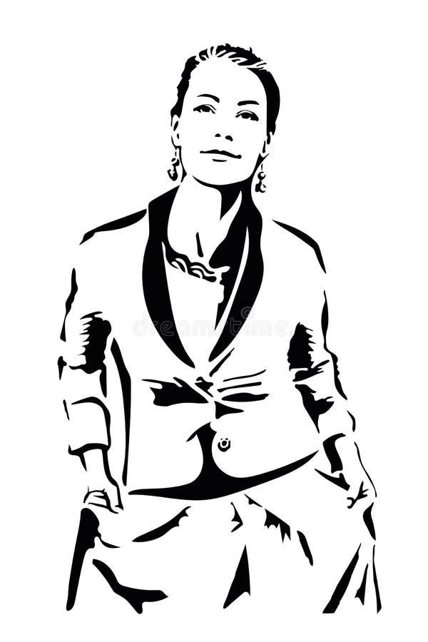 Femme, mode - ressort et collection de sommer, illustration, pochoir photos libres de droits