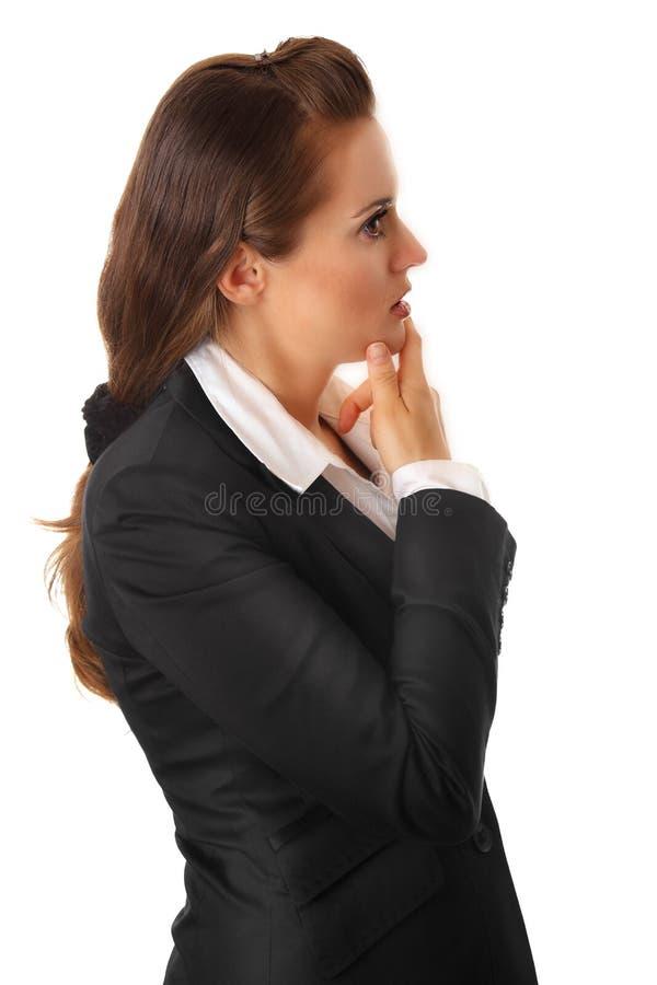 Femme moderne pensive d'affaires photos libres de droits